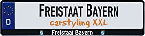 Design Number Plate Frame Federal State Freistaat Bayern 1 Piece Auto