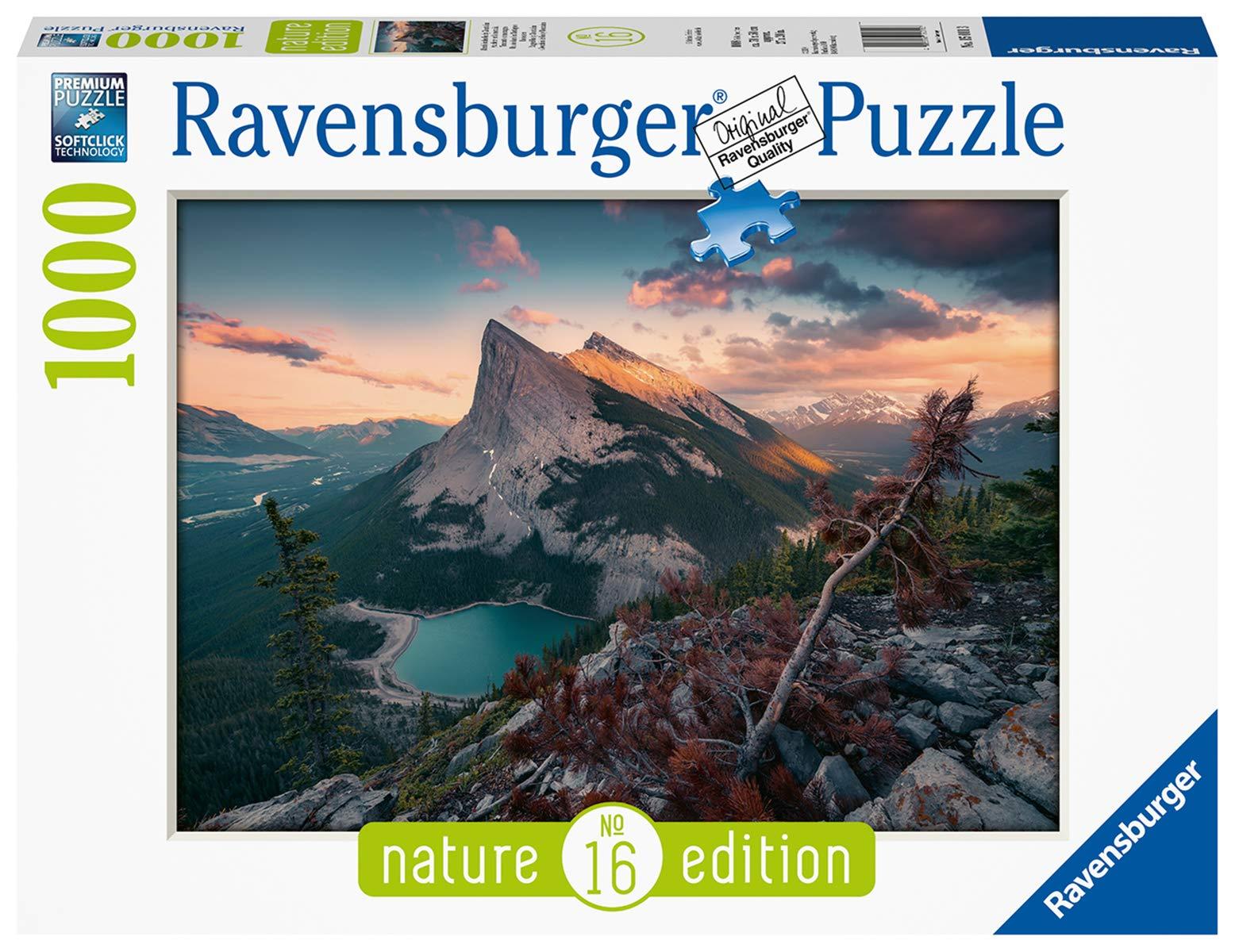 Ravensburger-15011-Abends-in-den-Rocky-Mountains Ravensburger Puzzle 15011 – Abends in den Rocky Mountains – 1000 Teile -