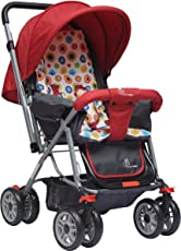 R for Rabbit Lollipop Lite - The Colorful Baby Stroller and Pram for Baby/Kids (Red)