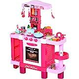 HOMCOM Set de Juguetes de Cocina para Niños Mayores de 3 Años Juegos de rol Temprano Educativo con 38 Accesorios Incluidos 78