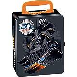 Theo Klein 2881 Hot Wheels verzamelkoffer, metalen koffer voor maximaal 50 auto's, praktische onderverdelingen, afmetingen: 3