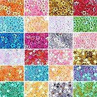 NBEADS 2 Cajas/Juego de Colores Surtidos Estrellas Confeti Glitter Star Lentejuelas para Manualidades DIY Nail Art and Party Decoration, 1.7~3.7x1.7~3.7x0.2mm