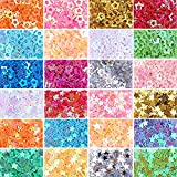 nbeads 2Boxen/Set Sterne Konfetti Glitter Star Pailletten für die Crafts DIY und Party Dekoration, 1,7~ 3,7x 1,7~ 3,7x 0,2mm