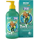 WOW Skin Science Kids 3 in 1 Wash - Shampoo + Conditioner + Body Wash - Ocean King Aquaman Edition - No Parabens, Color, Mine