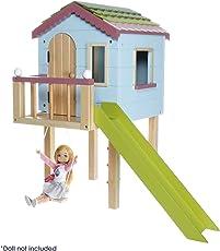 Lottie Puppenhaus Baumhaus LT089 Puppen - mit Echtem Holz und kinderfreundlichen, fröhlichen Farben