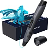 Aerb Stylo 3D, Stylo d'Impression 3D avec Écran LCD, Compatible avec Filaments PLA ABS de 1,75 mm, 8 Vitesses Réglables…