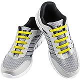 WELKOO® Cordones elásticos de silicona sin nudo impermeables para calzado de adulto e infantil - 16 & 12 pzas. Distintos colo