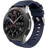 TiMOVO Bracelet de Montre Compatible avec Samsung Gear S3 Frontier/Galaxy Watch 3 45mm, Bracelet en Silicone Compatible avec