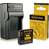 PATONA 4in1 Ladegerät + Akku Panasonic CGA-S005 | Fuji NP-70 | Leica BP-DC4 | Pentax D-Li106 | Ricoh DB-60 | DB-65