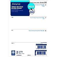 Filofax Agenda 2022 au format A5 avec une semaine sur deux pages