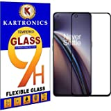 KARTRONICS Screen Protector for OnePlus Nord CE 5G/OnePlus Nord 2 5G (Black) with Installation Kit, Pack of 2