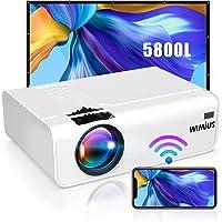 Vidéoprojecteur WiFi, WiMiUS 5800 Vidéoprojecteur WiFi Portable Supporte Full HD 1080P Audio AC3 Rétroprojecteur 720P…