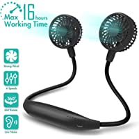 COMLIFE Portable Neck Fan, 2600mAh Battery Operated Ultra Quiet Hands Free USB Fan with 6 Speeds, Strong Wind, 360° Adjustable High Flexibility Wearable Personal Fan for Home Office Outdoor Travel