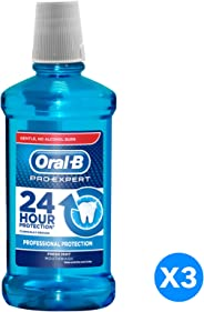 Oral B Pro-Expert Professional Protection Fresh Mint Mouthwash, 500 ml