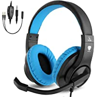 BlueFire Gaming Headset Kids with Microphone, 3.5mm Wired Comfortable Bass Stereo Volume…