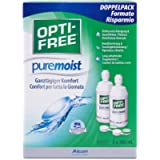 OPTI-FREE PureMoist Contact Lens Solution, 300ml, Economy Pack - Pack of 2