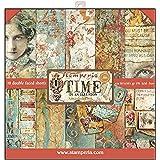 "Stamperia Bloc Papier Scrap double Face 10 feuilles 30,5x30,5 (12""x12"") - Timer is an Illusion multicolore, SBBL33"