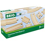 BRIO World - Expansion Pack - Beginner Wooden Train Track for Kids Age 3 Years Up - Compatible with all BRIO Railway Sets & A