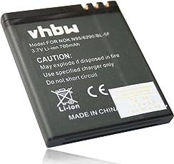 vhbw Li-Ion Akku 700mAh (3.7V) für Handy Telefon Smartphone BEA-FON S30, S31, S31 EU001B wie MP-S-O, BL-5F.