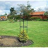 Metalen hekwerk in obelisvorm, voor klimplanten, 1,9 m, stalen frame, rond, van weerbestendig metaal