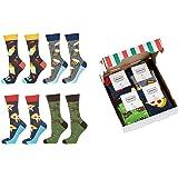 soxo Set de Calcetines de Colores para Hombres Regalo Empaquetado Pizza   talla 40-45   Calcetines Divertidos con Dibujos   R