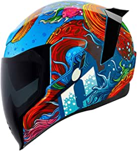 Icon Motorcycle Airflite Helmet Inky Blue M 57 Sport Freizeit