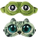 Antifaz Para Dormir Mujeres Hombres Niños Divertido Lindo Contorneado Rana Gato Perro Animal 3D Sueño Máscara Para Dormir 2 P