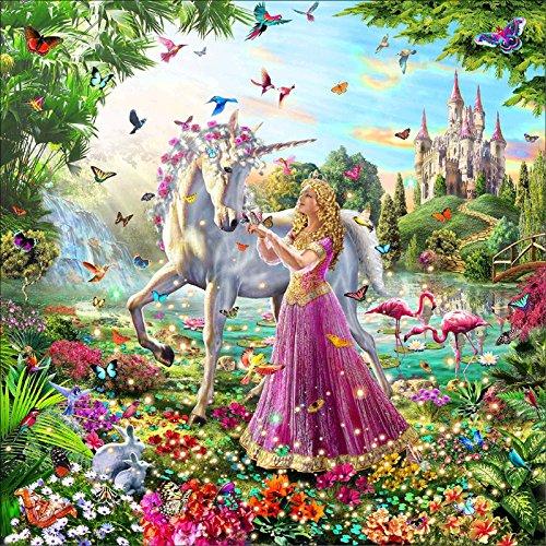 5D DIY Diamond Painting Cross Stitch, Decoration of House Living Room,Princess and her unicorn