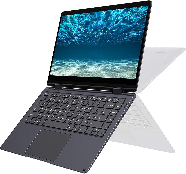 XIDU PhilBook MAX – Ordenador Portátil 2 en 1 de 14.1″, Portátil Convertible 360 °, Pantalla Táctil FHD (Intel E3950, 8GB RAM, 128GB SSD, Windows 10) Teclado Retroiluminado, Gris Estrella