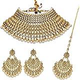 Shining Diva Fashion Latest Design Stylish Kundan Choker Bridal Wedding Party Wear Traditional Necklace Jewellery Set for Wom