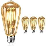 Ampoule LED Edison,Samione Lampe D¨¦corative Ampoules ¨¤ incandescence R¨¦tro Edison Ampoule Antique Lampe 3 Pack [Classe ¨¦n