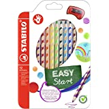 Colouring Pencil - STABILO EASYcolors Right Handed Wallet of 12 Assorted Colours + Sharpener