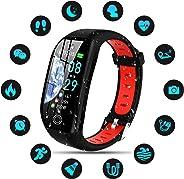 Tipmant Orologio Fitness Tracker Uomo Donna Smartwatch Bracciale Cardiofrequenzimetro da Polso Impermeabile IP68 Contapassi S