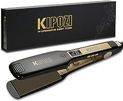 KIPOZI Piastra Capelli Professionale Larga Digitale con Display LCD Doppia Tensione Piastra Per Capelli,Piastra Keratina...