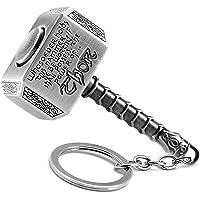 Mjolnir Portachiavi con martello di Thor (argento, versione rotativa)