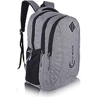 Half Moon 35 L Casual Waterproof Laptop Bag/Backpack for Men Women Boys Girls/Office School College Teens & Students…