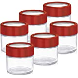 Treo by Milton Alfy Glass Storage Jar Set, 100ml, Set of 6, Multi-Color