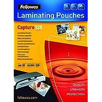 Fellowes 5396301 Pochettes de Plastification 125 Microns A4 par 25 Transparent