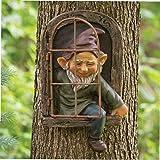 Enano de jardín Figura Enano, árbol del Ornamento Decorativo Miniatura Regalos de cumpleaños de la Resina para niños al Aire