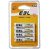EBL 1.2V AAA Batterie Ricaricabili Durature, Pile Ricaricabili da 1100mAh Ni-MH con 1200 cicli, Confezione da 4 pezzi