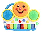 Popsugar Smiley Piano and Keyboard Musical Set with Lights for Kids,