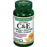 Nature's Bounty Natural Vitamin C 500 mg And Vitamin E 400 IU, Softgels, 50 ea