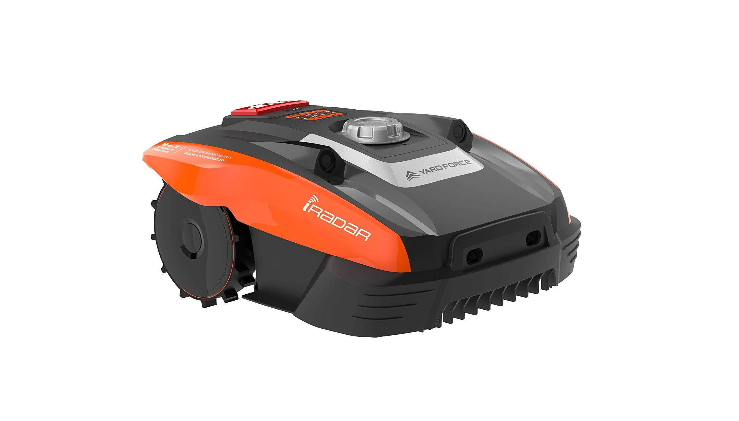 Yard Force Mähroboter Compact 400Ri, mit WLAN, App-Steuerung, iRadar Ultraschallsensor, Rasenkanten-Funktion