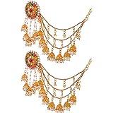 Handicraft Kottage Jhumki Earrings for Women (Golden) (HK_Bahubali Jhumki_105)