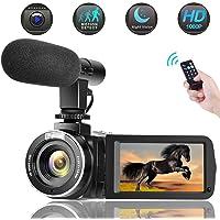 Caméscope Camescope Numérique 1080P 30M Appareil Photo Numérique Vision Nocturne IR Camera Video avec Microphone Externe Camescope Youtube