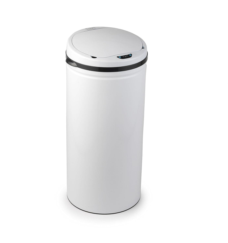 Marvelous White Kitchen Bin Part - 6: Russell Hobbs BW04514W Round Hands Free Motion Sensor Dustbin/Kitchen Bin,  50 Litre, White: Amazon.co.uk: Kitchen U0026 Home