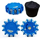 (Pack of 3) LED Emergency Safety Flare Road Flare Car Flashing Warning Night Lights Roadside Disc Beacon With/Magnet…