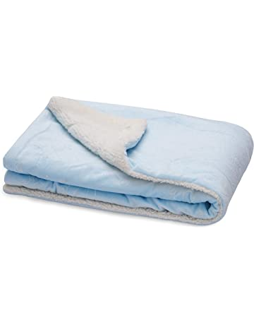 Daily Home Essentials Ultra Soft Plush Baby Blankets for Boys & Girls. Lightweight & Super Comfortable Swaddle. Soft Swaddling Sleep Blanket for Infant & Toddler. 70 x 95 cm, Soft Blue