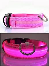 Migliorata cane visibilità e sicurezza – USB ricaricabile LED cane sicurezza collare – LED ultra luminosi da – connette ai dispositivi – no batterie – grande divertimento – il tuo cane sarà più visibile & Safe ( FORMATO ROSA GRANDE)