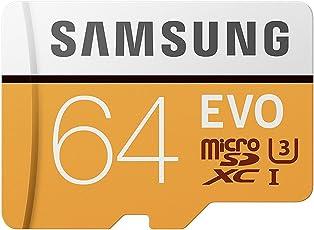Samsung EVO Grade 3, Class 10 64GB MicroSDHC 100 MB/S Memory Card with SD Adapter (MB-MP64GA/IN)
